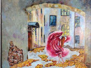 Пишем фантазийную картину «Танцевала в подворотне осень вальс-бостон». Ярмарка Мастеров - ручная работа, handmade.