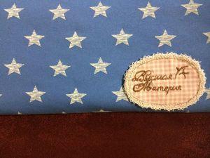 В наличии: Звезды на голубом. Футер и не только. Ярмарка Мастеров - ручная работа, handmade.