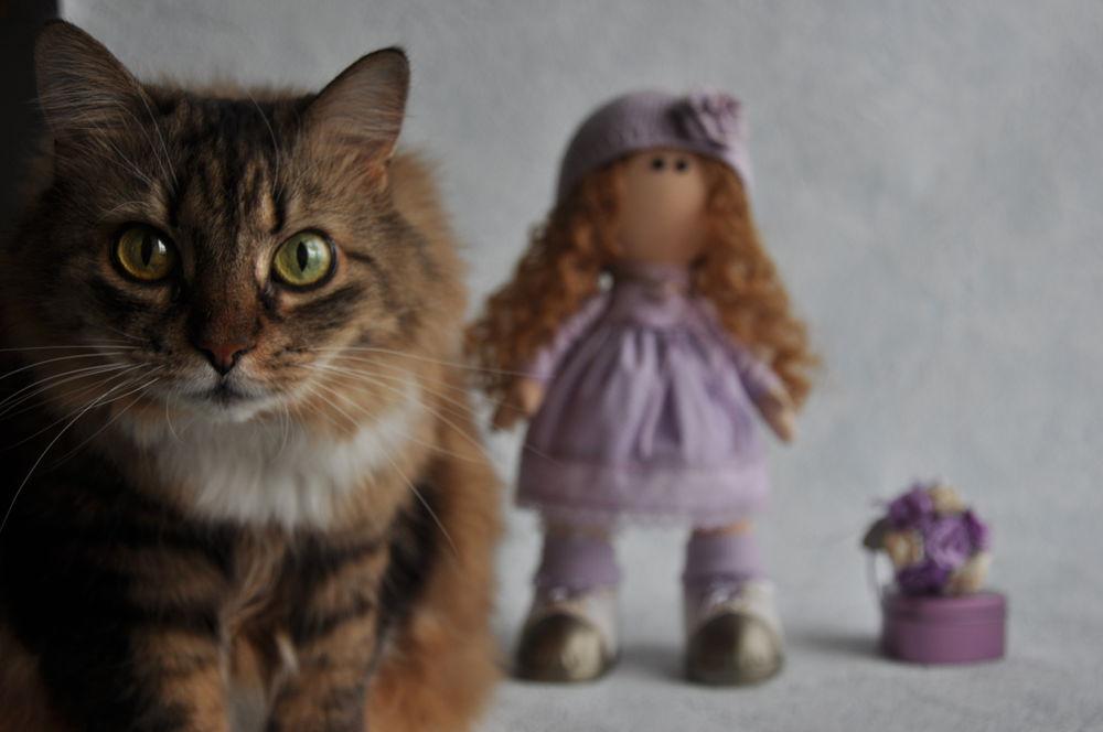 текстильная кукла, фотосессия, интерьерная кукла, кошка