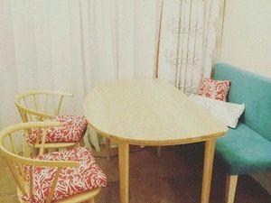 Обеденный полукруглый стол из массива ясеня. Ярмарка Мастеров - ручная работа, handmade.
