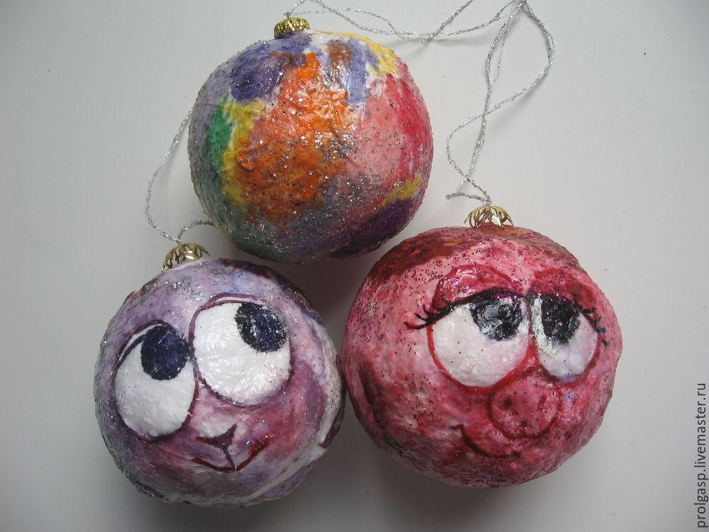 Делаем вместе с детьми ватные ёлочные шарики, фото № 6