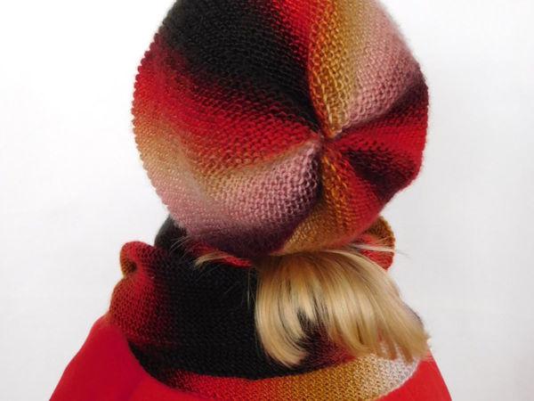 Шапочка + шарфик, новые цвета, свяжем | Ярмарка Мастеров - ручная работа, handmade