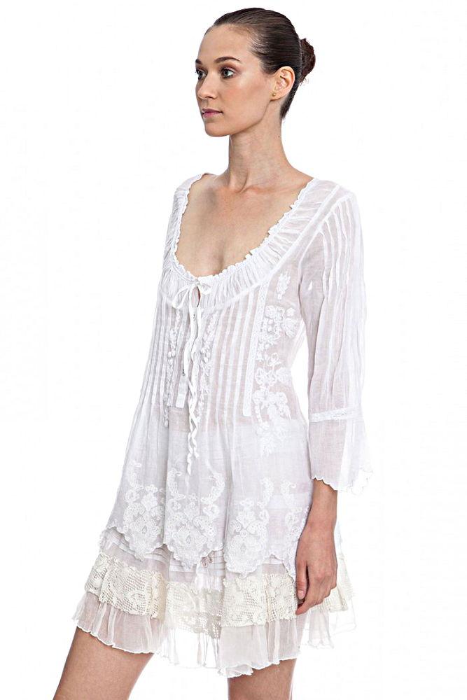 Белое бохо, или Шикарная одежда для королевы летнего пляжа, фото № 31