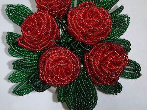 Акция!!!Скидка 20% на букеты роз из бисера. | Ярмарка Мастеров - ручная работа, handmade