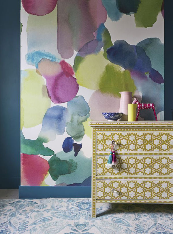 The Tenderest Interior: Abstract Watercolours on Modern Wallpapers, фото № 21