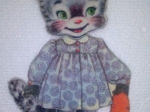 Кошечка из фетра. Ярмарка Мастеров - ручная работа, handmade.