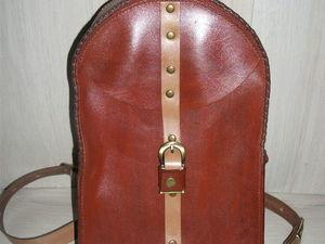 Кожаный ретро рюкзак-кофр. Ярмарка Мастеров - ручная работа, handmade.