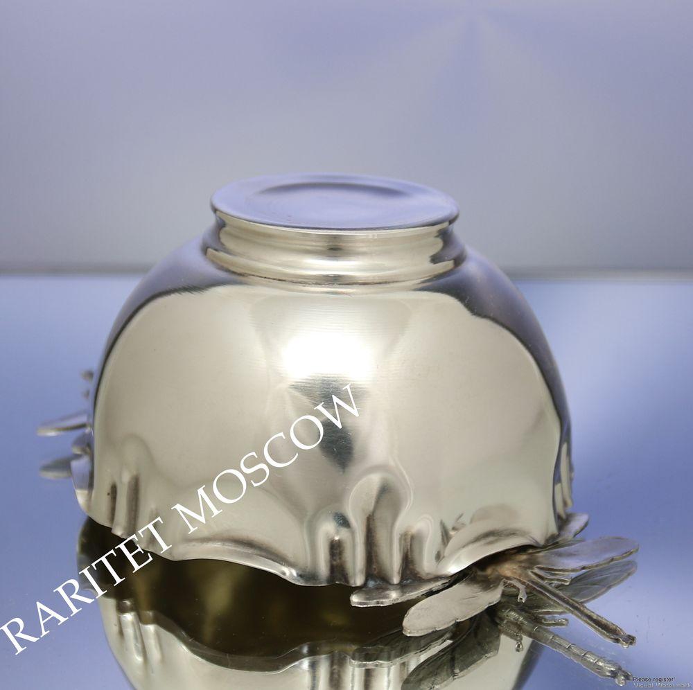 посеребренная ваза