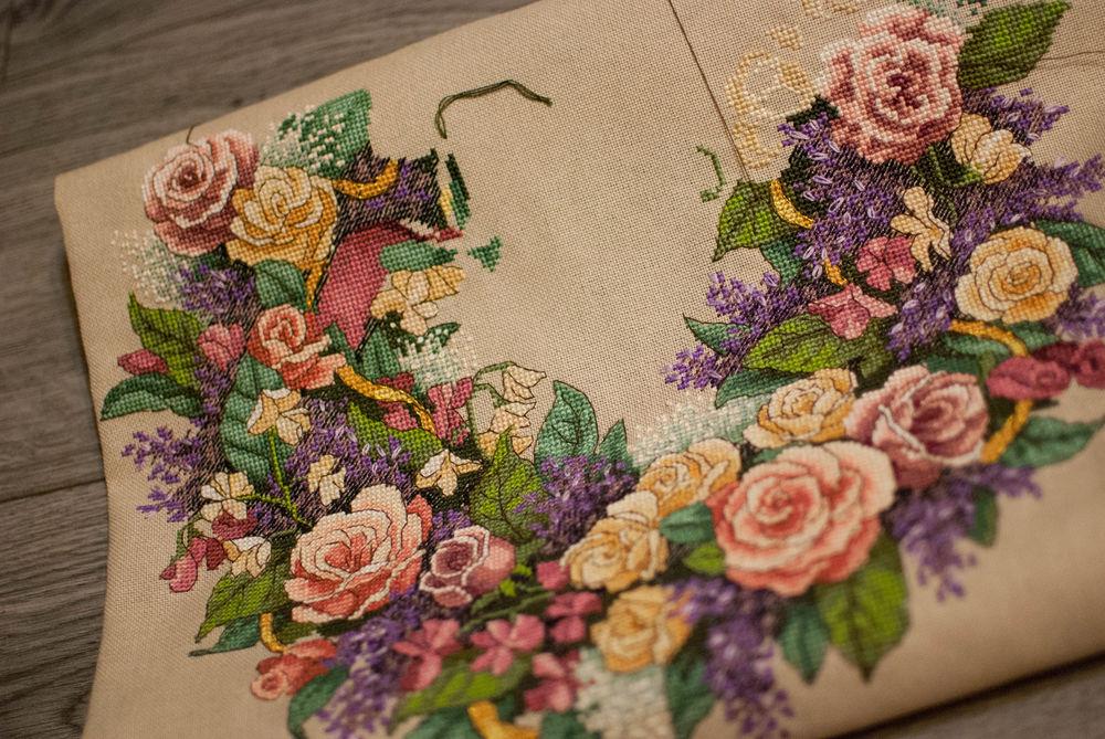 цветы, вышивка на заказ