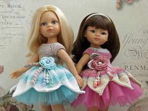 Вяжем платье для куклы