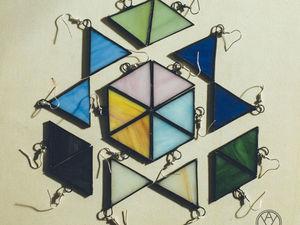 Серьги Треугольники. Ярмарка Мастеров - ручная работа, handmade.