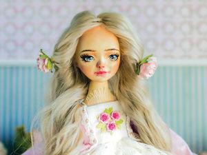 Ирэн авторская кукла, интерьерная коллекционная кукла, подарок. Ярмарка Мастеров - ручная работа, handmade.