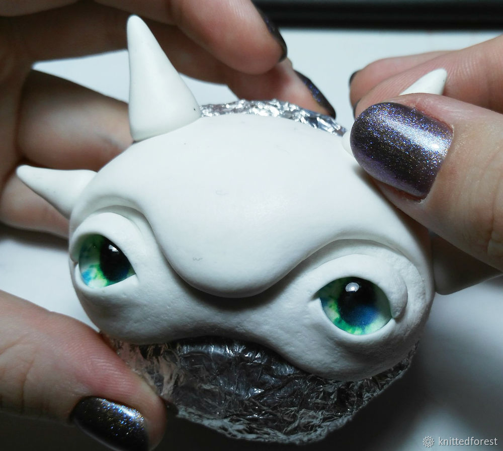 Процесс создания авторской игрушки из полимерной глины. Часть 1. Лепка мордочки, фото № 26