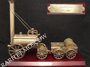 Паровоз поезд Stephensons Rocket латунь бронза Англия. Ярмарка Мастеров - ручная работа, handmade.
