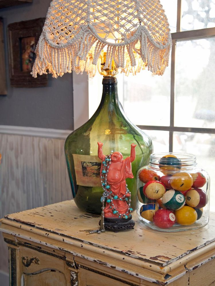 Настольные лампы из бутылки