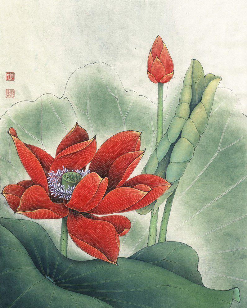 картинки китайские лотосы дань традиции огне
