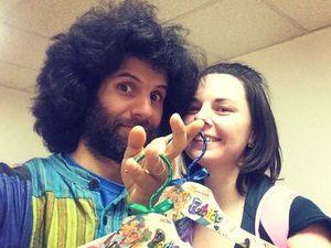 Подарочные вешалки для клоуна. Ярмарка Мастеров - ручная работа, handmade.