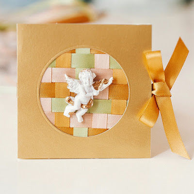 How to just make a card from ribbons and cardboard