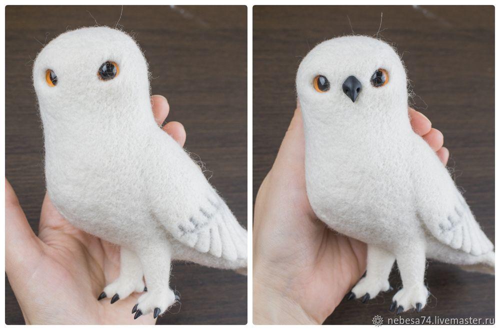 """Estamos haciendo un juguete de árbol de Navidad """"White Polar Owl"""", foto # 15"""
