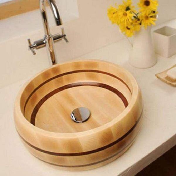 раковина из дерева, тиковая раковина, для ванной, раковина из термодерева