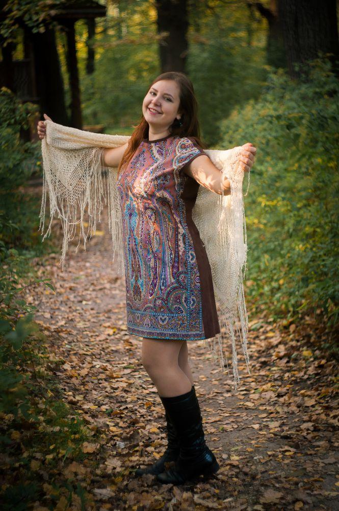 кожаное платье