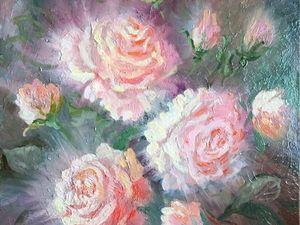 15% скидка на картину маслом «Розовое сияние». Ярмарка Мастеров - ручная работа, handmade.