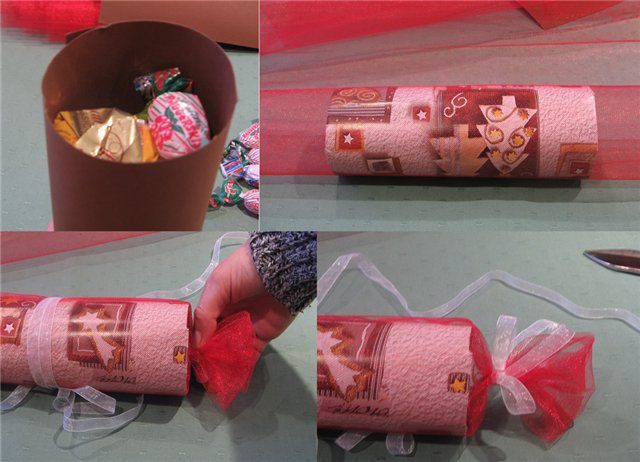 Как сделать упаковка в виде конфеты