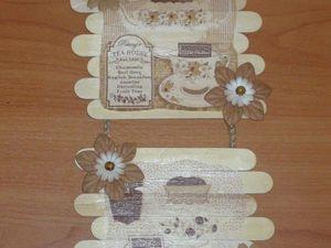Чайное панно из медицинских шпателей. Ярмарка Мастеров - ручная работа, handmade.