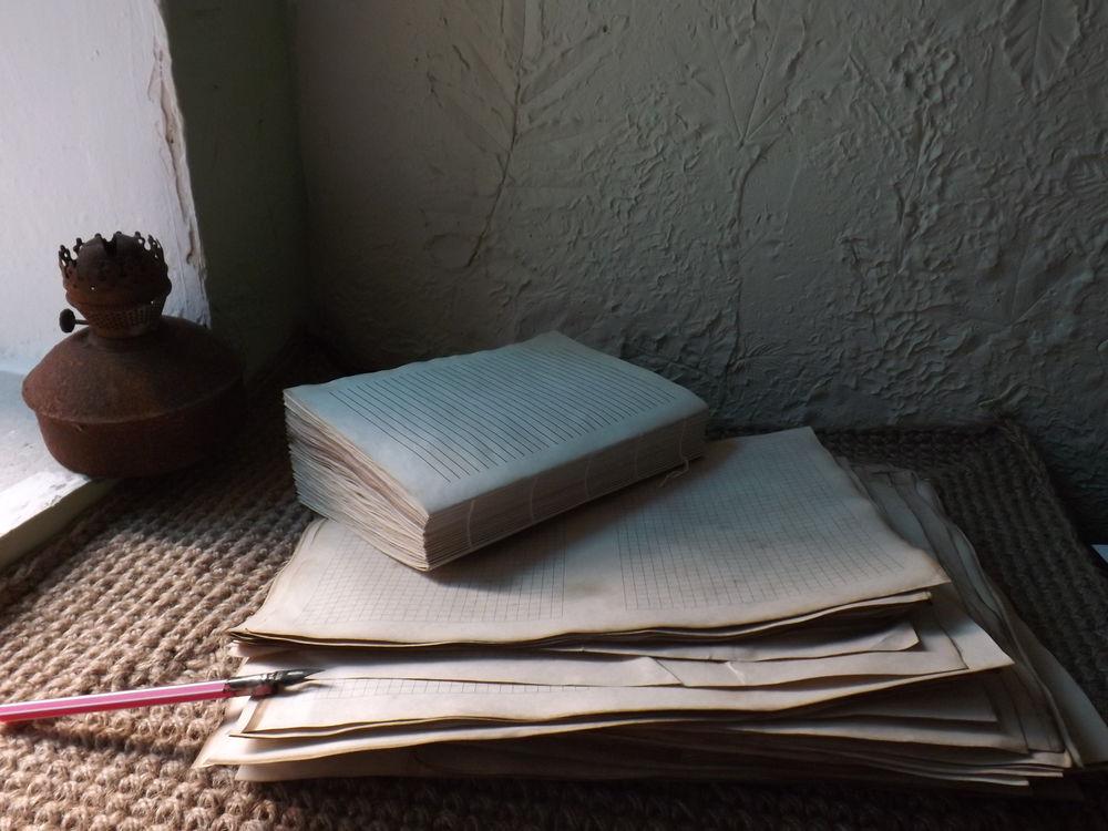 блокнот ручной работы, винтажный блокнот, готовый бумажный блок, бумага в линейку