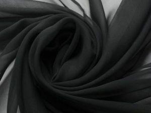Акция шифон черный. Ярмарка Мастеров - ручная работа, handmade.
