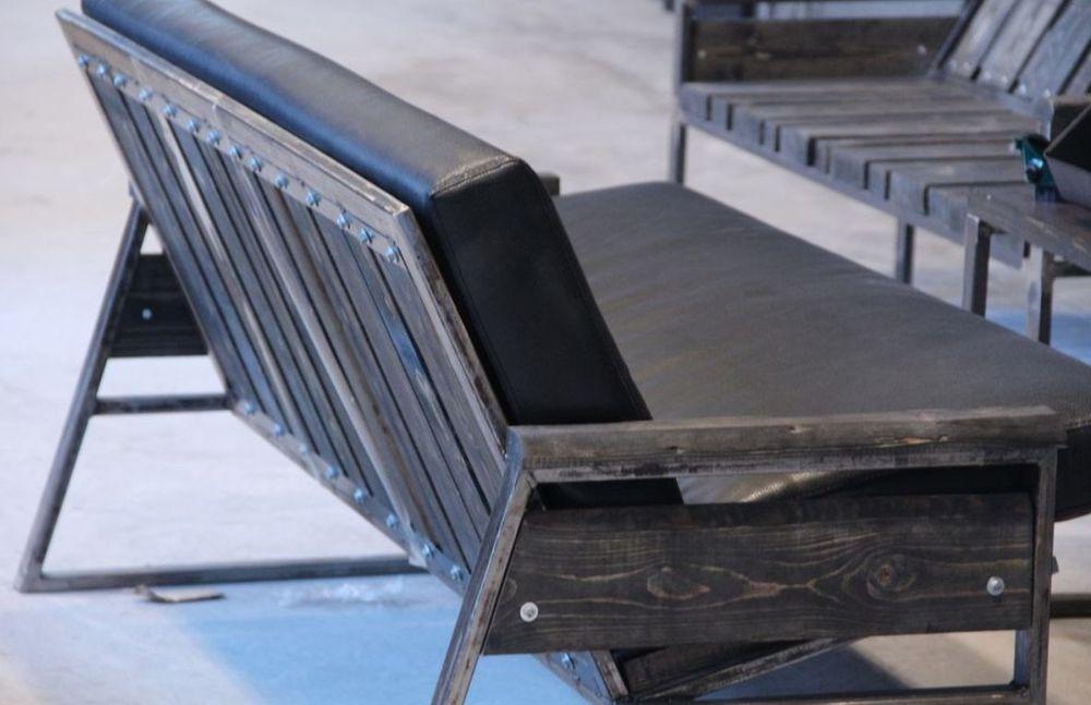 мебель на заказ, оригинальная мебель, металл и массив