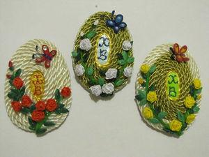 Создаем очаровательный магнитик на холодильник — пасхальное яйцо. Ярмарка Мастеров - ручная работа, handmade.