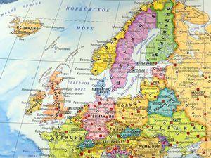 Картинная карта-мозаика Европы. Ярмарка Мастеров - ручная работа, handmade.