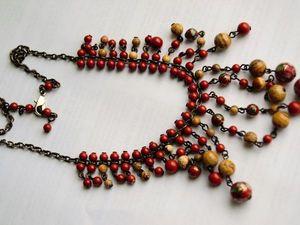Колье Клуазоне с натуральными камнями. Очарование Востока.. Ярмарка Мастеров - ручная работа, handmade.