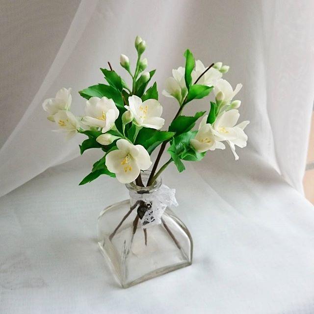 полимерная глина, цветы ручной работы