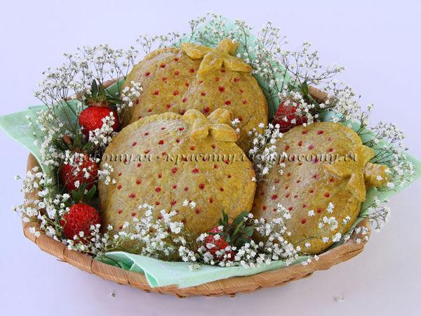 Печенье с Клубникой   Ярмарка Мастеров - ручная работа, handmade