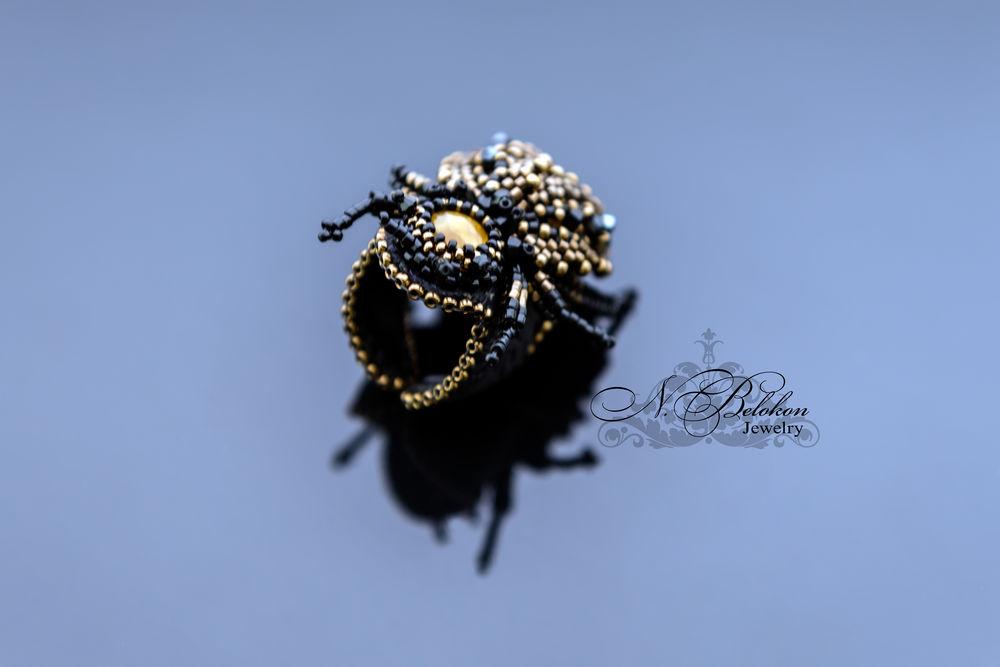 кольцо, бисероплетение