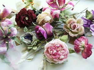 СКИДКА 35% на цветы из шелка!. Ярмарка Мастеров - ручная работа, handmade.