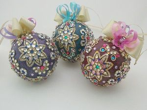 Набор новогодних шаров (3). Фотоотчет для Татьяны. Ярмарка Мастеров - ручная работа, handmade.