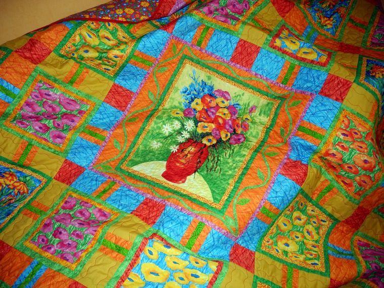 Сшить одеяло пэчворк