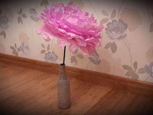 Как сделать большие цветы из кальки. Заключительный этап: сборка. Ярмарка Мастеров - ручная работа, handmade.
