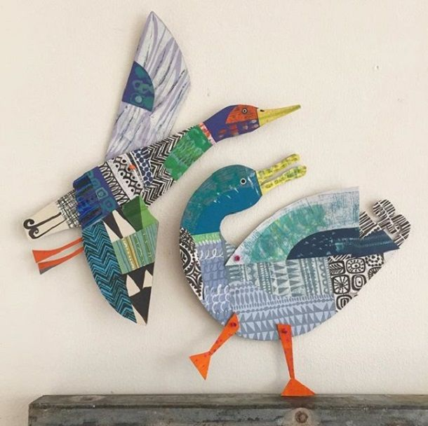 Cheerful Animals of Paper and Fabric by the Designer Clare Youngs, фото № 3