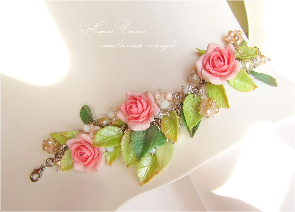 браслет с розами