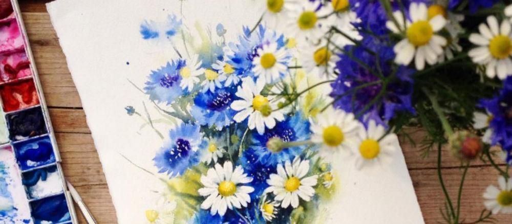 акварель, сова, школа рисования, обучение живописи