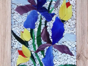 Выкладываем картину из кусочков стекла. Ярмарка Мастеров - ручная работа, handmade.