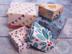 Мастерим коробочку оригами за 5 минут, очень просто!. Ярмарка Мастеров - ручная работа, handmade.