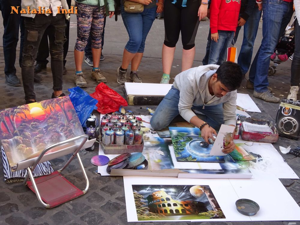 street artists in rome