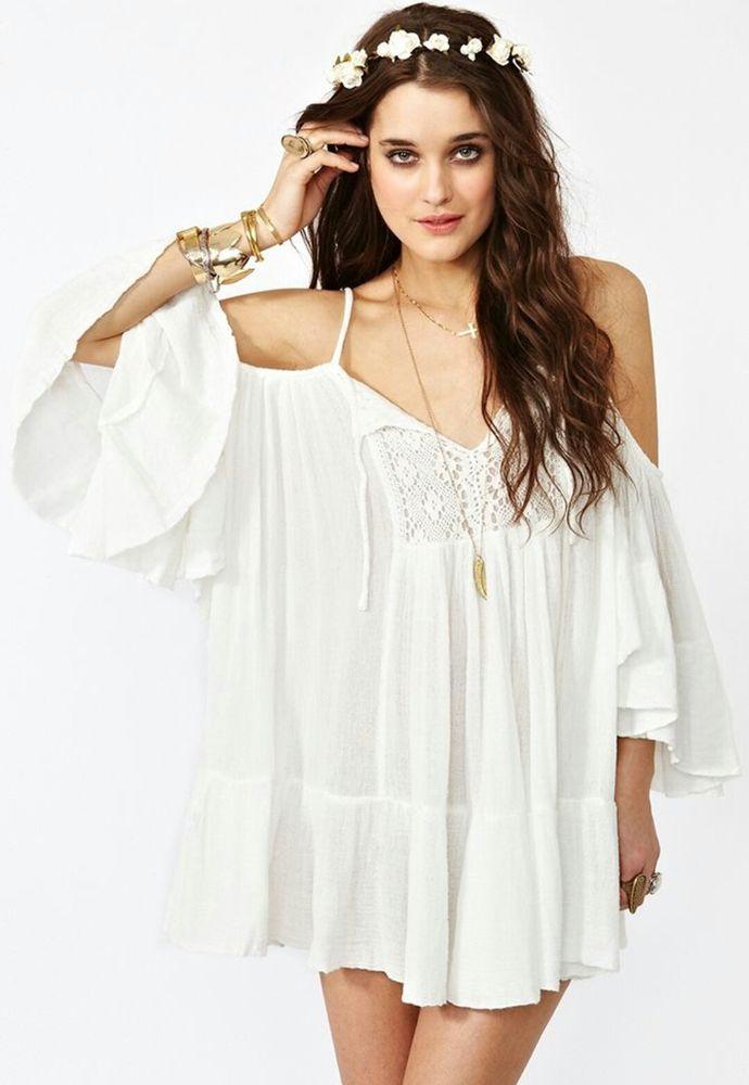Белое бохо, или Шикарная одежда для королевы летнего пляжа, фото № 62