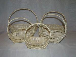 Новые модели плетеных корзин. Ярмарка Мастеров - ручная работа, handmade.