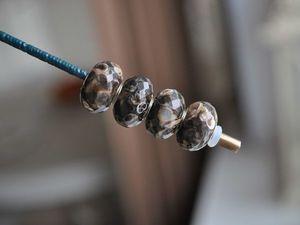 Натуральная черепаховая яшма для Pandora и Trollbeads в наличии. Ярмарка Мастеров - ручная работа, handmade.